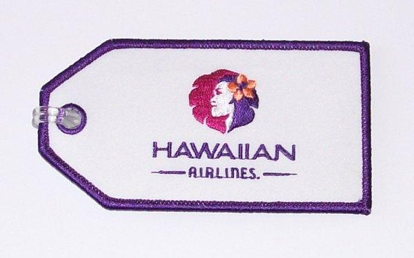 Hawaiian Tag: [Hawaiian Airlines Embroidered Luggage Tag]