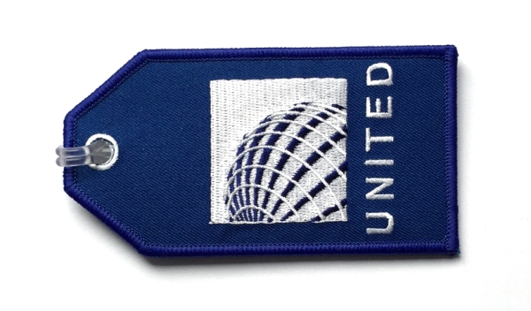 United Airlines Embroidered Luggage Tag Flight