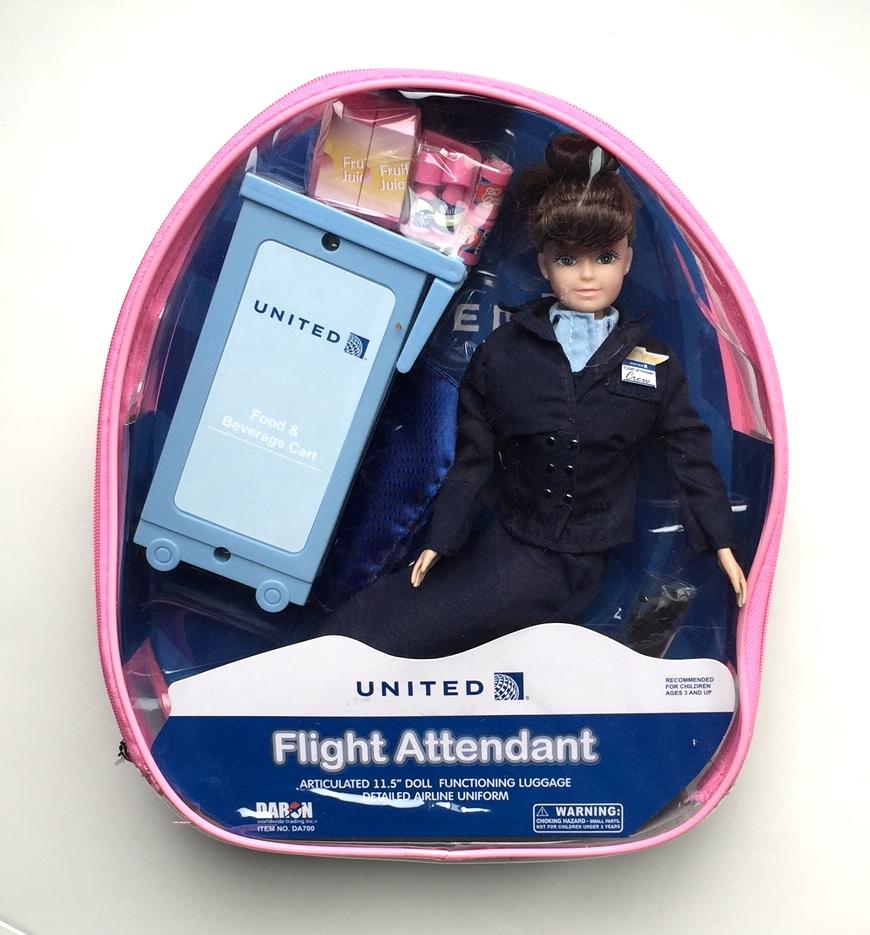 United Airlines Flight Attendant Doll The Flight