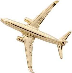 Boeing 737-800 BBJ Lapel Pin - Gold