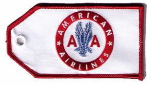 American Airlines Retro Embroidered Luggage Tag