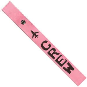 Airplane Crew Strap - Black on Pink
