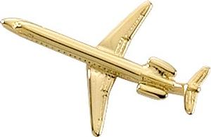 EMB-145 Lapel Pin - Gold