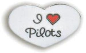 I Love Pilots Lapel Pin