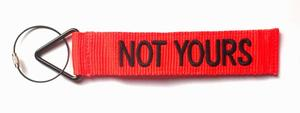 'TudeTags™ Not Yours Luggage Tag - Black on Orange
