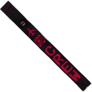Airplane Crew Strap - ORD - Red on Black