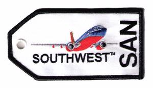 Southwest Airlines SAN Embroidered Luggage Tag