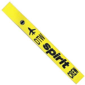Spirit Airlines Crew Strap - Yellow - DTW