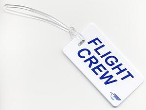 Plastic Flight Crew Luggage Tag