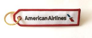 American Airlines New Logo Embroidered Key Ring Banner