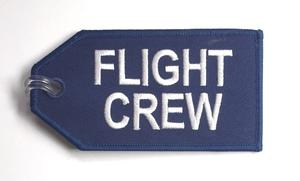 Flight Crew Blue Embroidered Luggage Tag