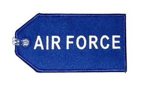 Air Force Embroidered Luggage Tag
