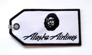 Alaska Airlines Embroidered Luggage Tag