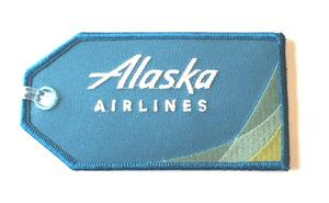 Alaska Airlines Embroidered Luggage Tag - New Colors