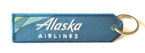 Alaska Airlines Embroidered Key Ring Banner - New Colors