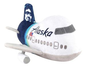 Alaska Airlines Plush Airplane with Sound