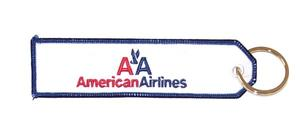 American Airlines Embroidered Key Ring Banner
