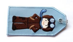 Pilot Boy Embroidered Luggage Tag