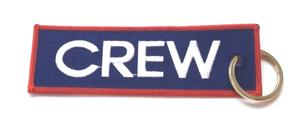 CREW Embroidered Key Ring Banner - Blue