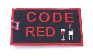 Code Red Embroidered Luggage Tag - Black