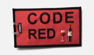 Code Red Embroidered Luggage Tag - Red