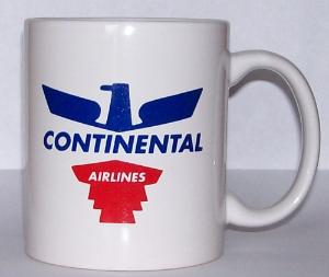 Continental Airlines 50s Eagle Coffee Mug