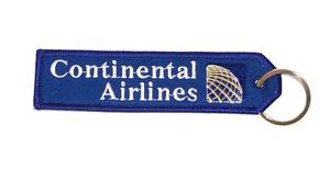 Continental Airlines Embroidered Key Ring Banner