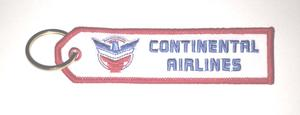 Continental Airlines Retro Embroidered Key Ring Banner