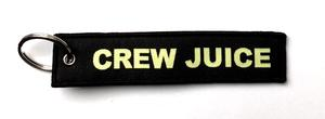 Crew Juice Embroidered Key Ring Banner - Black