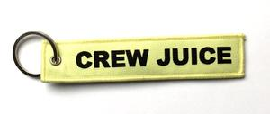 Crew Juice Embroidered Key Ring Banner - Bright Yellow