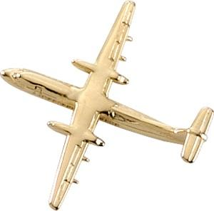 DASH-8 Lapel Pin - Gold
