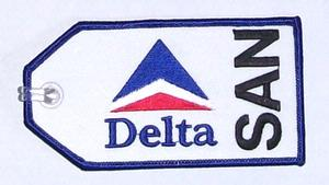 Delta Air Lines SAN Embroidered Luggage Tag