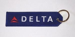 Delta Air Lines Embroidered Key Ring Banner