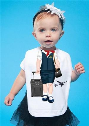 Flight Attendant Baby Bib