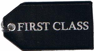 First Class Embroidered Luggage Tag