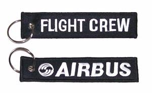 Flight Crew / Airbus Embroidered Key Ring Banner