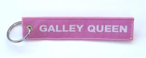 """Galley Queen"" Embroidered Key Ring Banner"