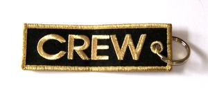 Gold Crew Embroidered Key Ring Banner