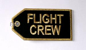 Gold Flight Crew Embroidered Luggage Tag