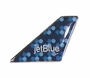 Jet Blue Bubbles Tail Pin