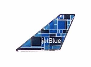 Jet Blue Mosaic Tail Pin