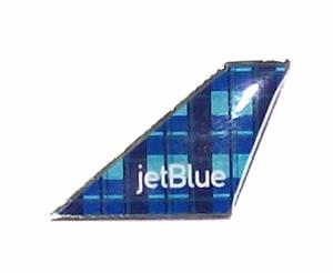 Jet Blue Plaid Tail Pin