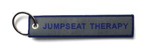 Jumpseat Therapy Embroidered Key Ring Banner