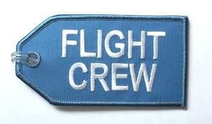 KLM Blue Flight Crew Embroidered Luggage Tag