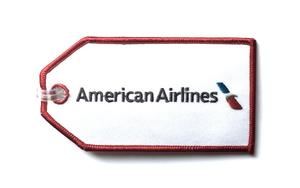American Airlines New Logo Embroidered Luggage Tag