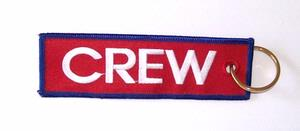 CREW Embroidered Key Ring Banner - Red
