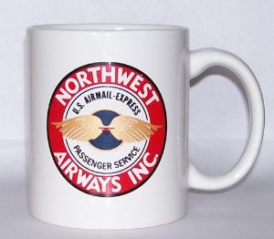 Northwest Airlines 20s Coffee Mug