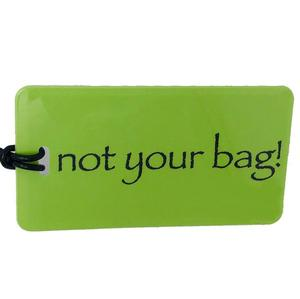 not your bag! Luggage Tag - Lime/Black