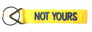 'TudeTags™ Not Yours Luggage Tag - Blue on Yellow