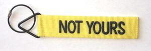 'TudeTags™ Not Yours Luggage Tag - Black on Yellow